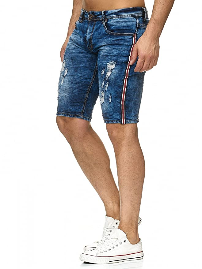 Herren Jeans Shorts Stretch Denim Bermuda Hose H2229: Amazon