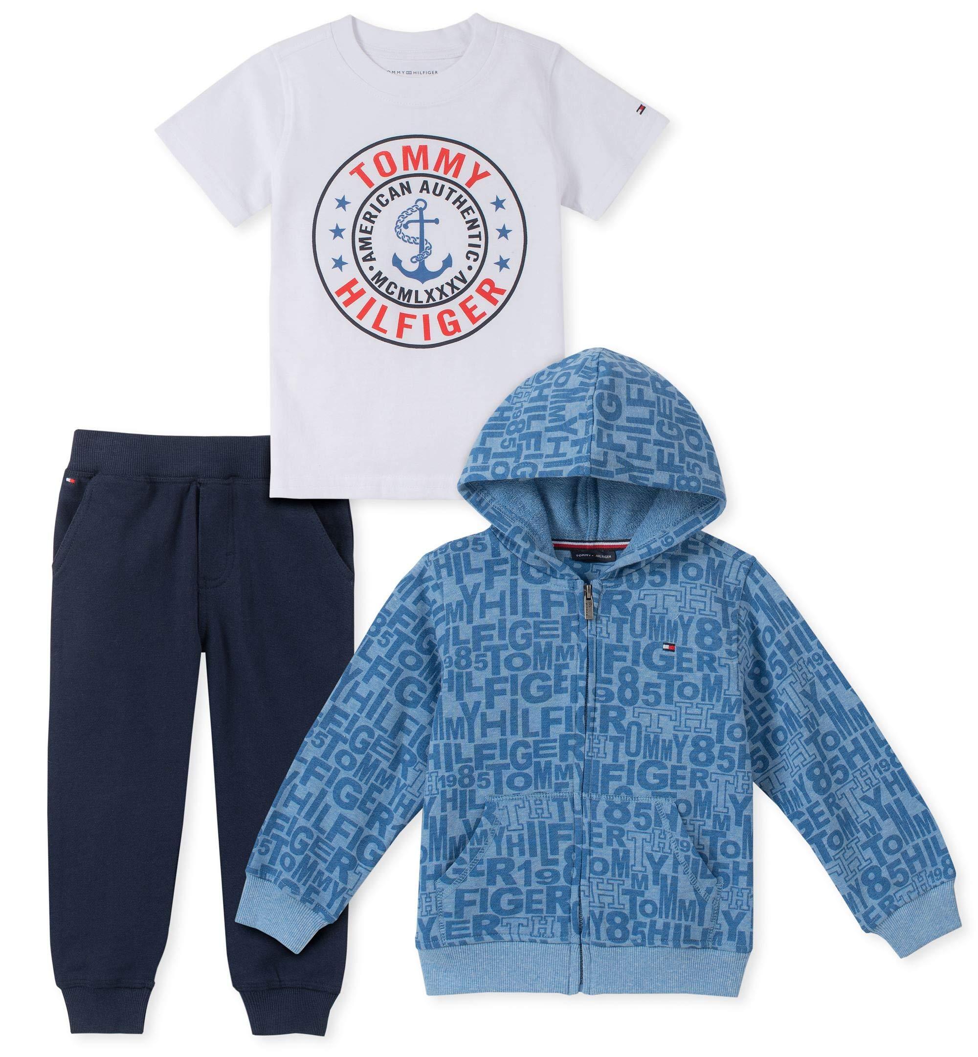 Tommy Hilfiger Boys' Toddler 3 Pieces Jog Set