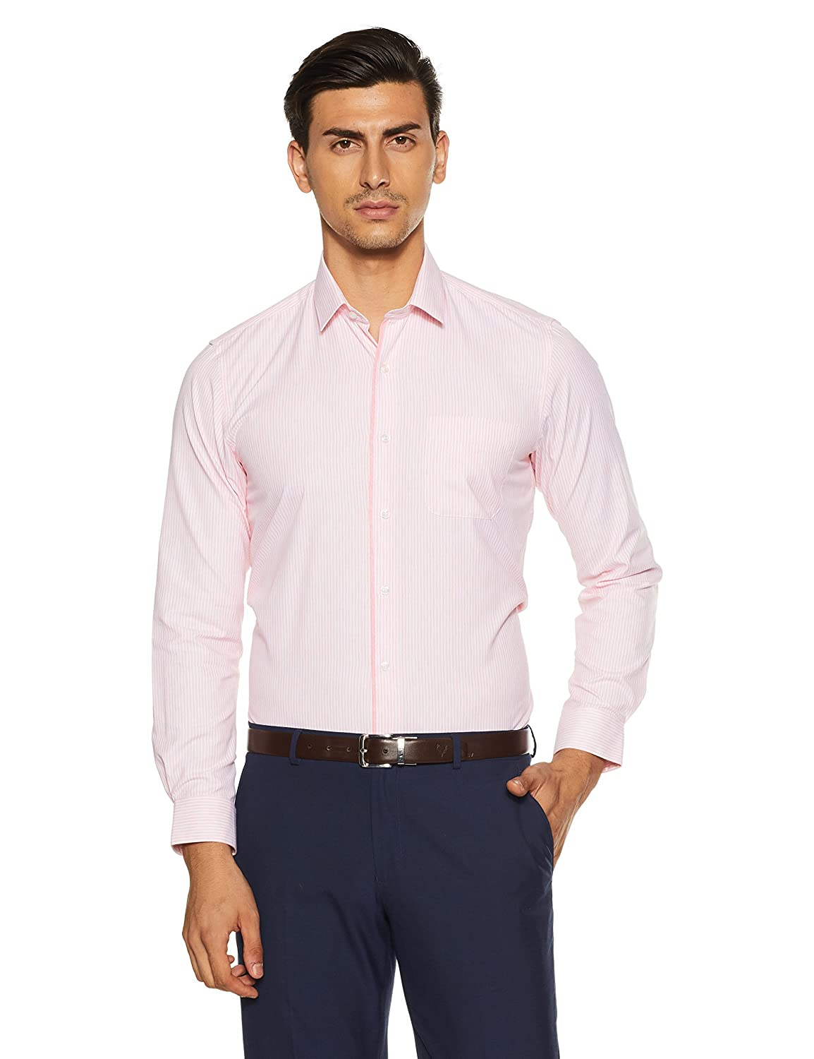 4e8c0eecfb7 Rs. 640 · Buy This Item · Peter England Men s Striped Regular Fit Formal  Shirt