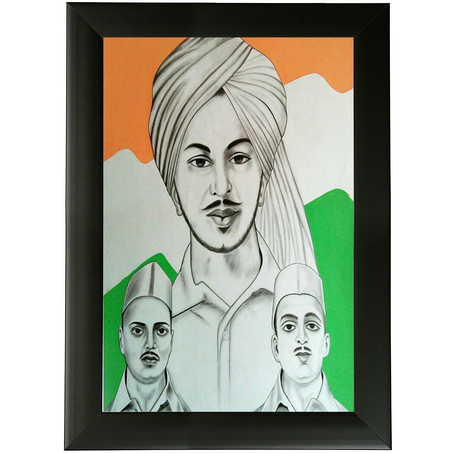 Buy Weird Road Independence Theme Flag Color Bhagat Singh Wooden Posters Size 12 X 18 Inch Online At Low Prices In India Amazon In