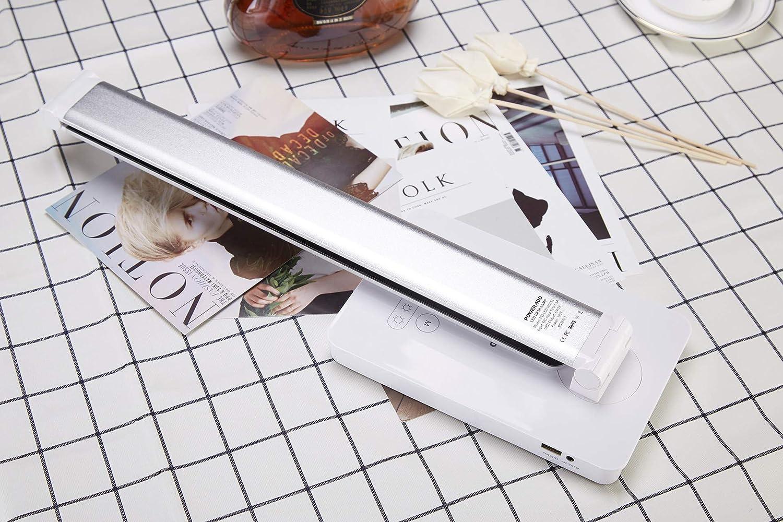 Color-Argentado POWERADD L/ámpara Escritorio LED 2 Modos de Luz y 6 Niveles de Brillo para Estudiar