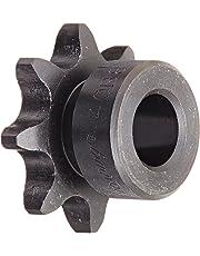 "Browning 40B8 Minimum Bore Roller Chain Sprocket, Single Strand, Steel, 1/2"" Stocked Bore, 8 Teeth"