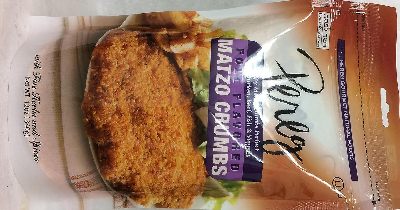 Pereg Full Flavored Matzo Crumbs Kosher For Passover 12 Oz. Pack Of 3.
