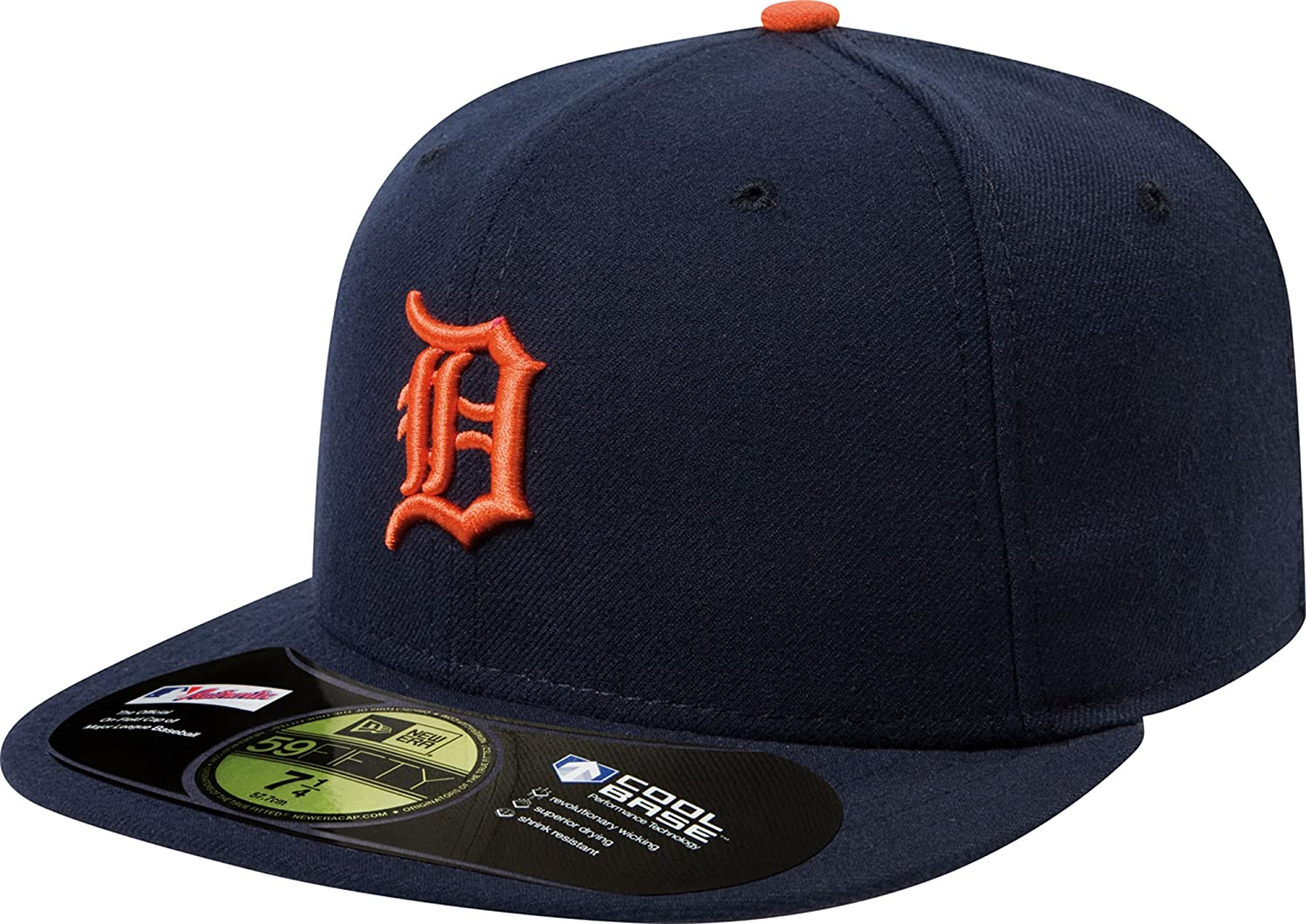 hot sale online 3791c 9d646 Detroit Tigers 59Fifty Authentic Fitted Performance Home MLB Baseball Cap   Amazon.ca  Sports   Outdoors