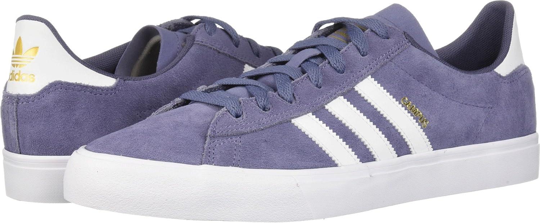 adidas Men's Campus Vulc II Skate Shoe 12 D(M) US|Raw Indigo/Footwear White/Raw Indigo