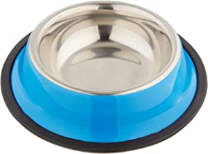 Weebo Pets Blue No-Tip No-Slip Stainless Steel Bowl (4oz. Toy)
