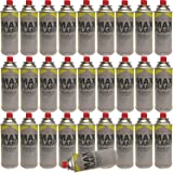 NEW 28 PC X MAX FLAME BUTANE GAS BOTTLE CANISTERS 28PC BOTTLES FOR COOKER HEATER STOVE BBQ CAMPING PACK OF 28