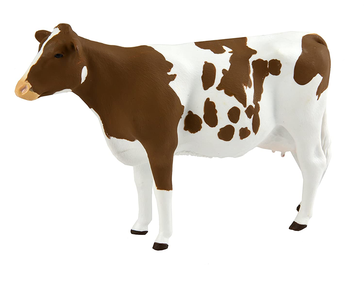 Safari Ltd. Ayrshire Cow ? Realistic Hand Painted Toy Figurine Model ? Quality Construction from Phthalate, Lead and BPA Free Materials ? For Ages 3 and Up