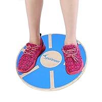Sportneer Wooden Balance Board for Exercise, Gym, Sport Performance Enhancement, Rehab, Training