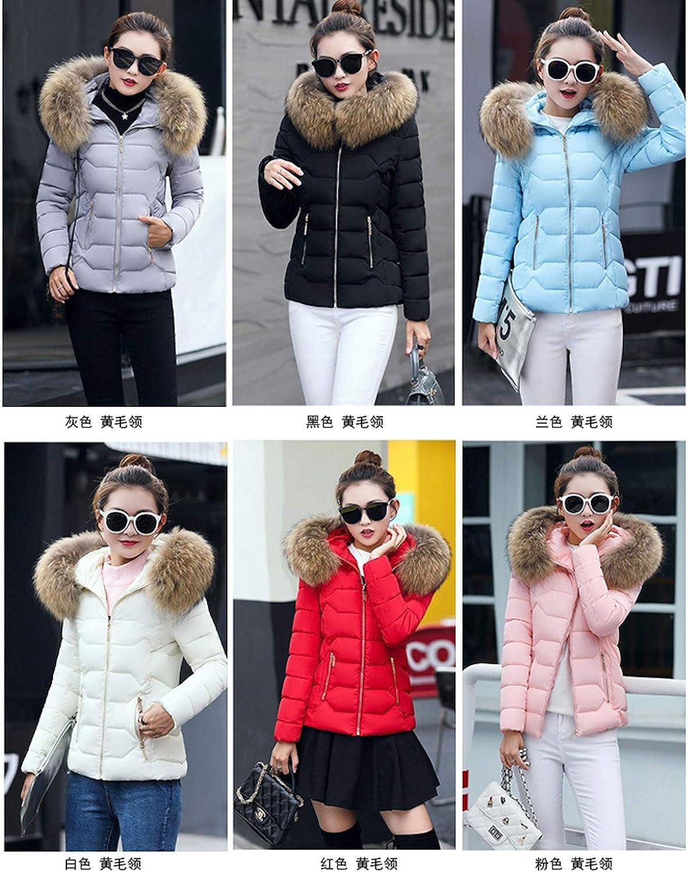 Elonglin Women's Puffer Jackets Coats, Ladies Fashion Winter Warm Slim Fit Short Overcoat Outwear, Casual Down Jacket Coat Red