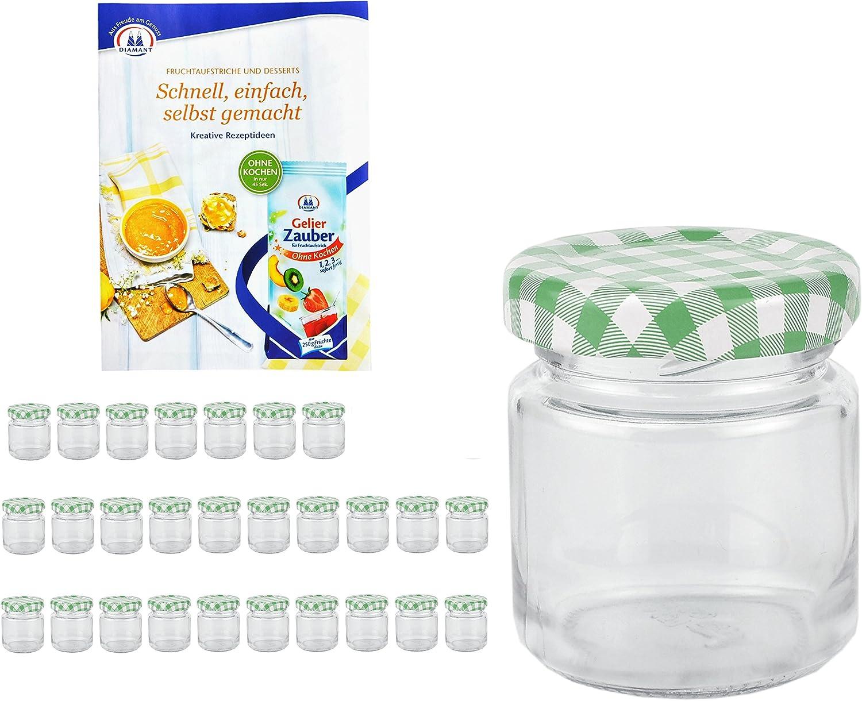 24 Mini Fall Glasses 53ml Marmalade Jars Lids Mason Jars Silver