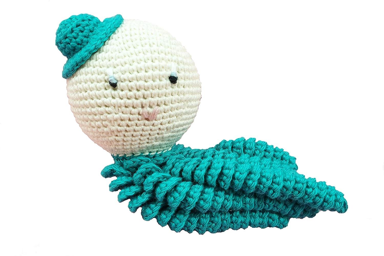 Pulpo amigurumi para recién nacido en color verde. Pulpo de ...