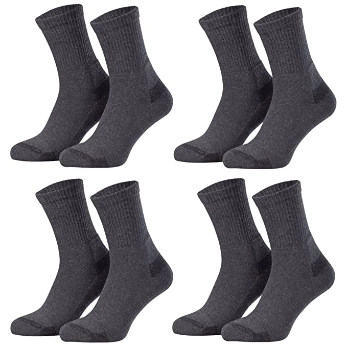 Piarini® - 4 pares de calcetines de trabajo y ocio - Suela en tela de rizo - Refuerzo en talón y puntera - 3 colores: Amazon.es: Ropa y accesorios