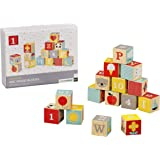 Petit Collage Eco-Friendly ABC Wooden Blocks, Set of 15, 12 Months+