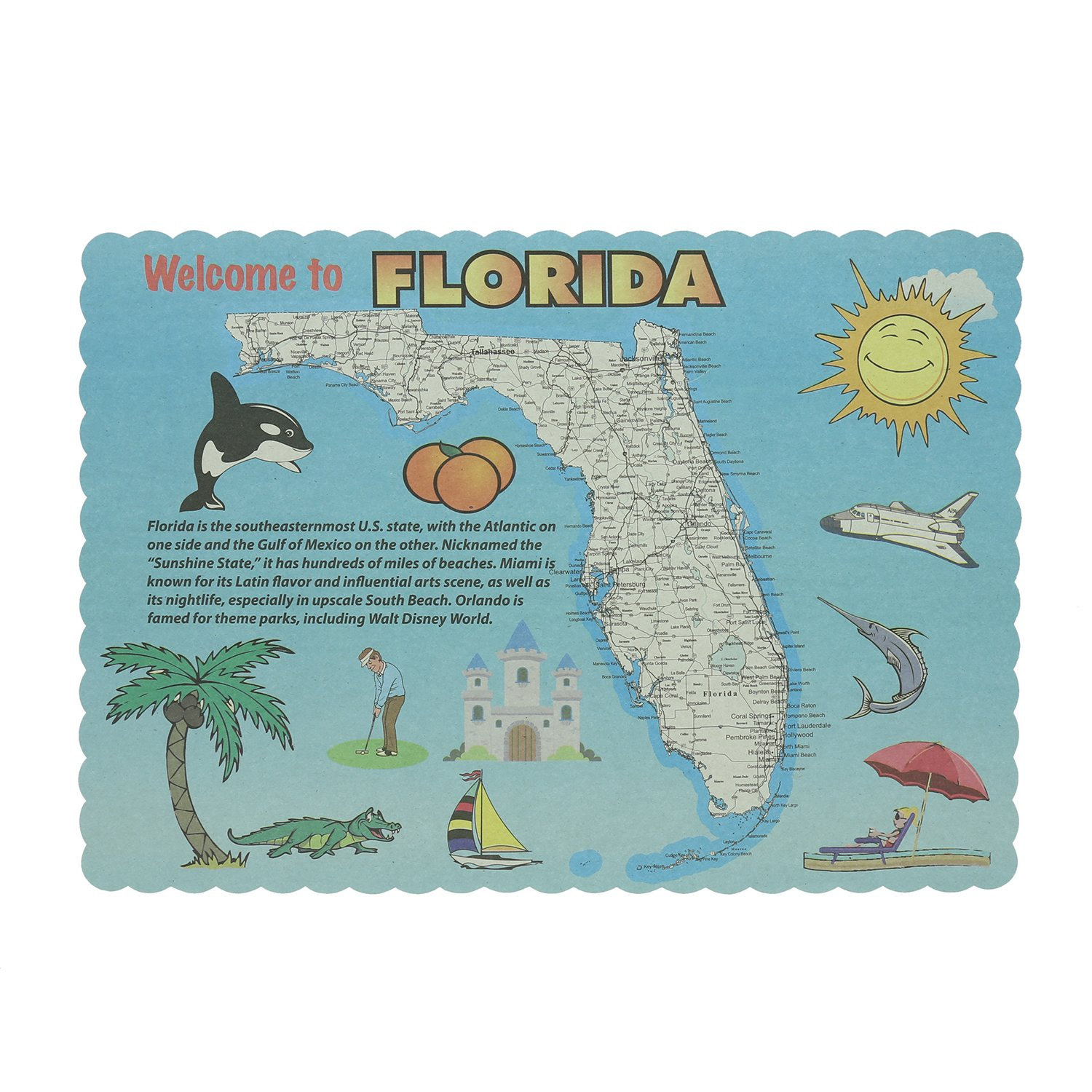Royal Florida Design Placemats, Package of 1000