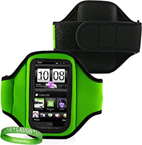 Elegant OEM VG Brand (GREEN) Armband with Sweat Resistant lining for Newest Apple iPod Touch with iOS 5 (Black & White 8GB, 32GB, 64GB) + Live Laugh Love VanGoddy Wrist Band!!!