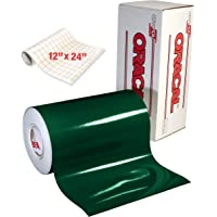 ORACAL 651 Gloss Dark Green Adhesive Craft Vinyl for Cameo, Cricut & Silhouette Including Roll of Clear Transfer Paper…