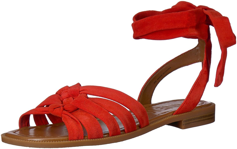 Nine West Women's Xameera Suede Flat Sandal B074WTM811 10.5 B(M) US|Red Suede