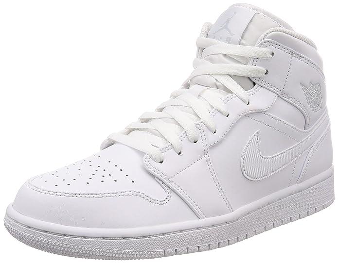 685cf068eba5 Nike Men s Air Jordan 1 Mid Shoe Basketball  Amazon.co.uk  Shoes   Bags