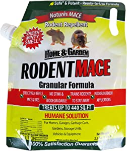 Nature's Mace Rodent Repellent 2.2lb / Covers 440 Sq. Ft. / Repel Mice & Rats/Keep mice, Rats & Rodents Out of Home, Garage, attic, and Crawl Space/Safe to use Around Children & Pets