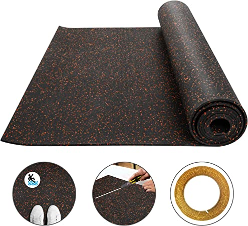 Protective Exercise Mats Home Gym Rubber Flooring American Floor Mats 3//8in 9mm Thick 10/% Red 4 x 6 Heavy Duty Rubber Rolls