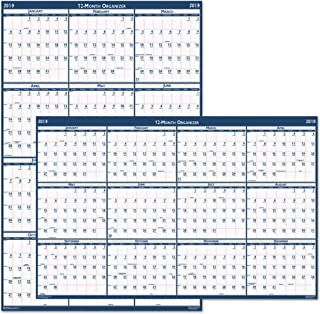 product image for HOD3962 - Laminated Write-On/Wipe-Off Jumbo Yearly Wall Calendar