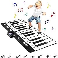 Best Choice Products 71in Giant Heavy-Duty Vinyl 24-Key Piano Keyboard Music Playmat w/ 8 Instrument Settings - Black