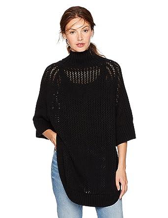 4a99e098b7 Amazon.com  Cable Stitch Women s Rib-Collar Tunic Sweater  Clothing