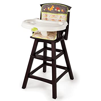 Summer Infant Classic Comfort Wood High Chair Fox and Friends Espresso Stain  sc 1 st  Amazon.com : baby chair wooden - Cheerinfomania.Com