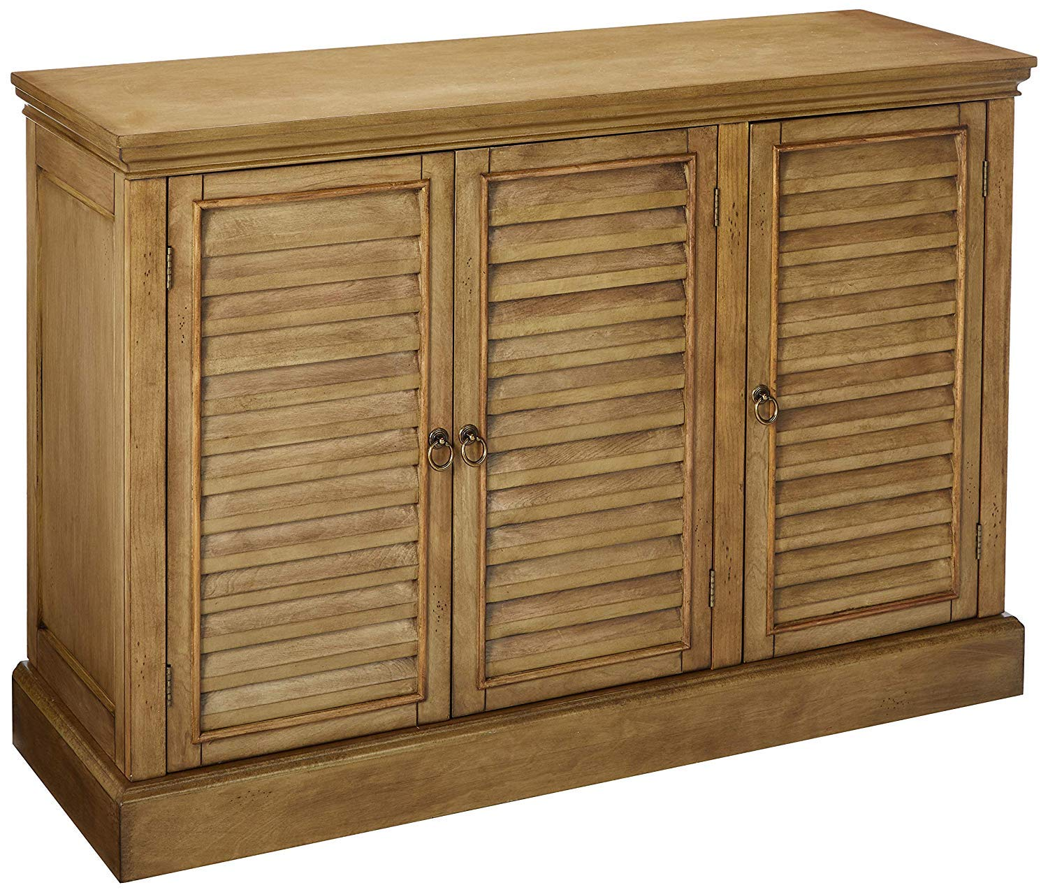 Rustic wood buffet/sideboard with shuttered doors. #sideboards #diningroom #furniture