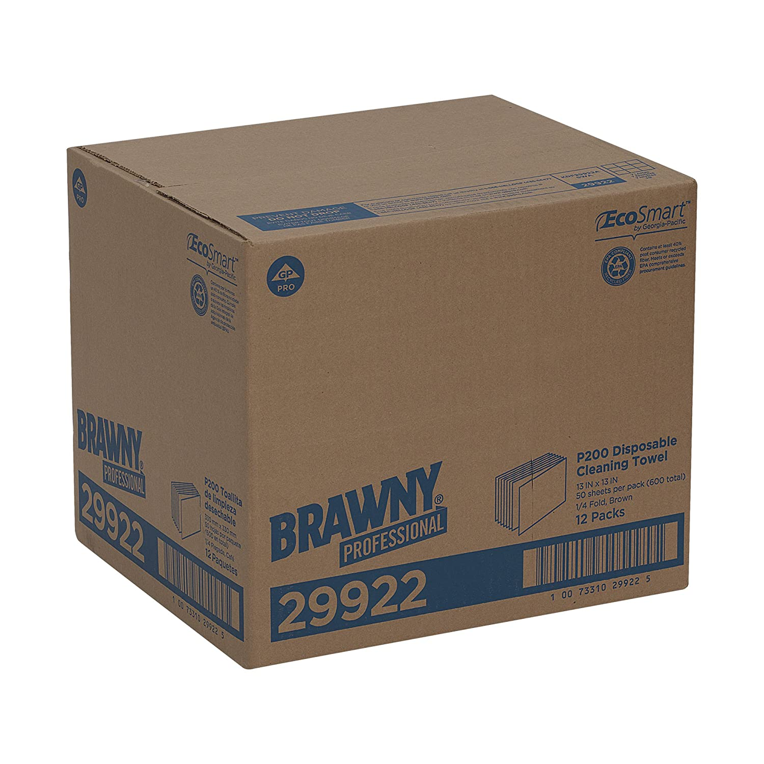 GP Brawny Professional P200 Disposable Cleaning Towel, 1/4-Fold, Brown: Science Lab Disposable Wipes: Amazon.com: Industrial & Scientific