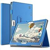 IVSO Custodia Cover per Tagital 10.1/Tiptiper 10.1/Yuntab K107/Excelvan K107/LNMBBS 3G 10/BEISTA 10.1/ibowin 10.1/YOTOPT 10.1/Joyo 10.1/PENG10.1/Ken 10.1/Wecool 10/YUNTAB 3G 10.1/PENGYX 10.1, Blu