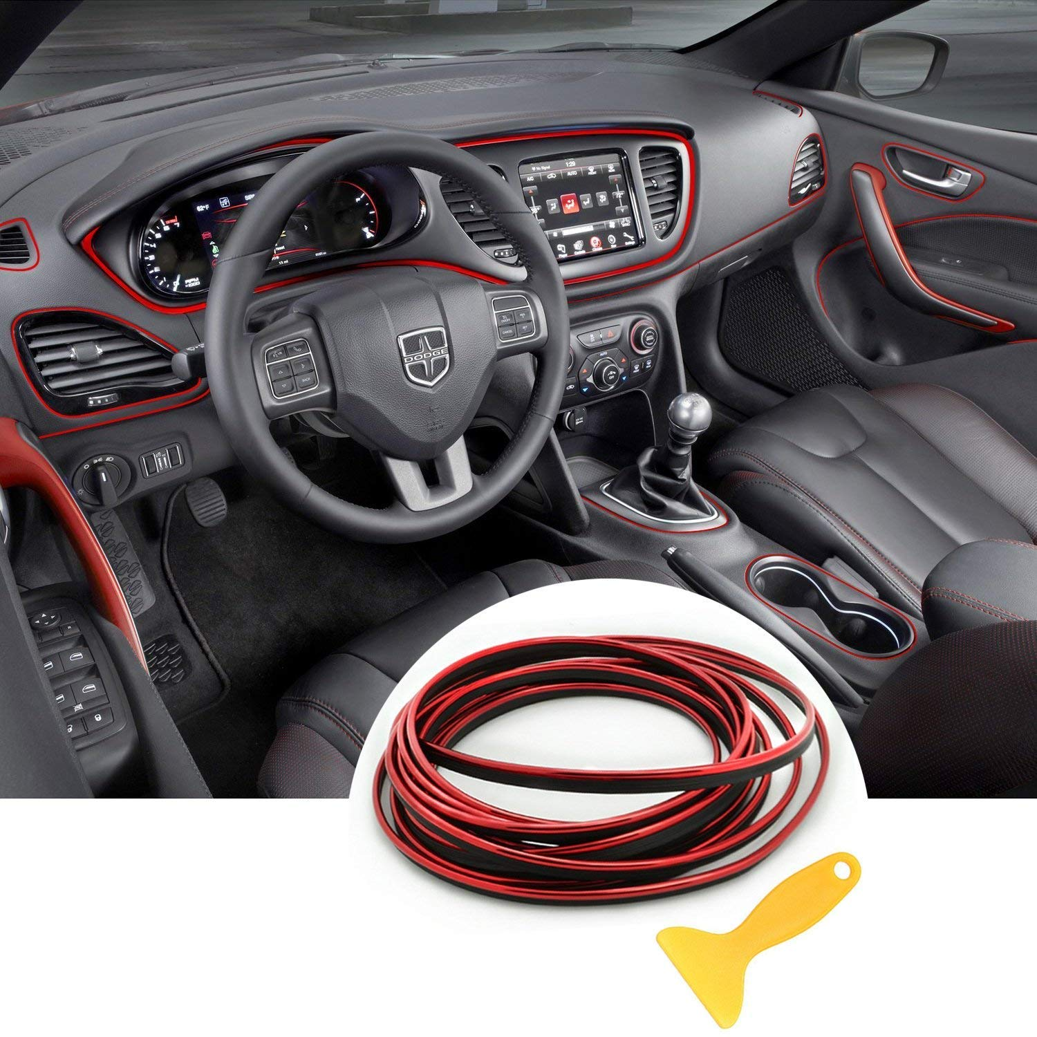 Automobile Car Filler Trim Strip Line,YY-LC Easy Push-In Removable 3D DIY Car Styling Interior Exterior Article Decoration Mouldings Trim, For Universal Car Accessory 16.4 feet,Blue YY-LCv