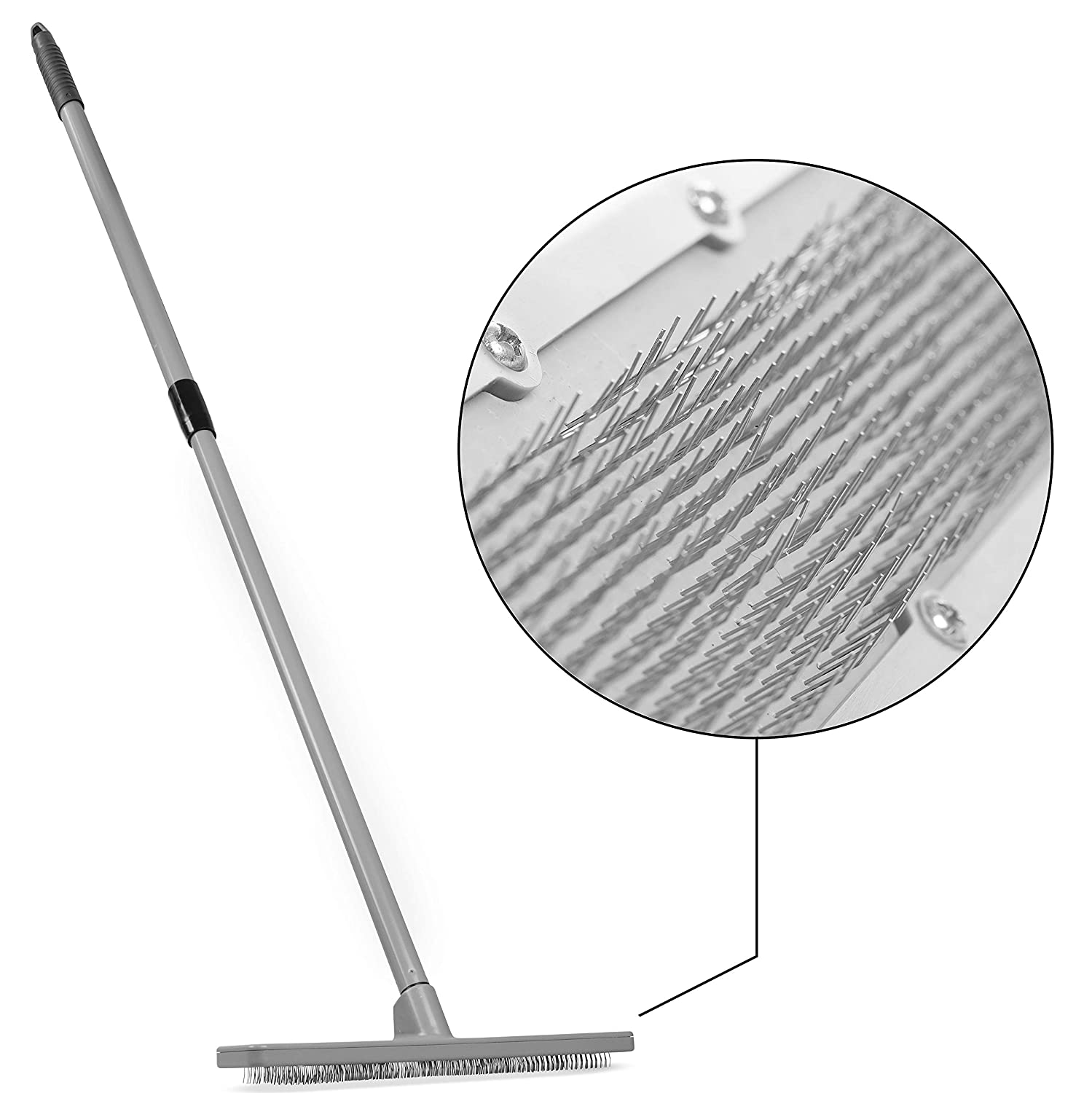 Quality Line Universal Carpet Rake   Effective & Safe Pet Hair Removal   User-Friendly Rug & Carpet Cleaner   Ergonomic & Unique Design   Features a 4 Ft Extendable Pole