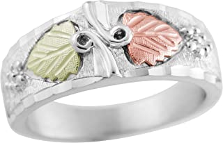 product image for Black Hills Gold on Silver Mens Ring