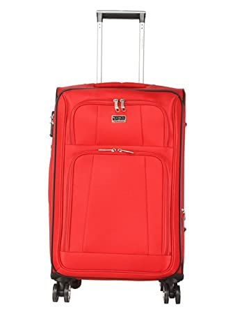 Giordano Polycarbonate Hardsided Check in Luggage  20 quot; / Red