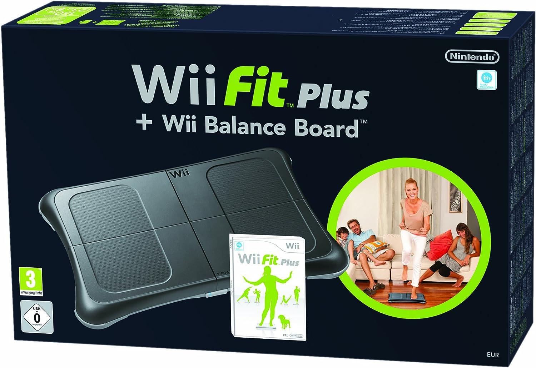 Wii Fit Plus + Balance Board Negra: Amazon.es: Videojuegos