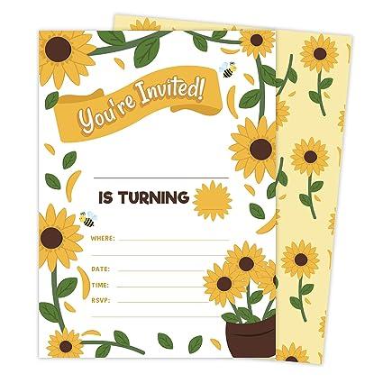 Amazon.com: Sunflower 1 invitaciones (25 ct.) tarjetas de ...