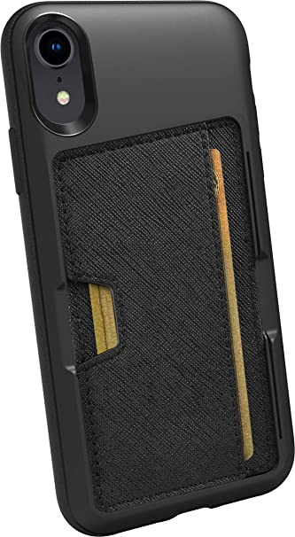 best sneakers 82d63 24df2 Smartish iPhone XR Wallet Case - Wallet Slayer Vol. 2 [Slim Protective  Kickstand] Credit Card Holder for Apple iPhone 10R (Silk) - Black Tie Affair