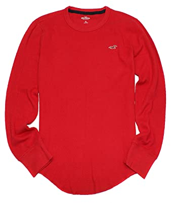 1e3c1127a6b7 Hollister Men's Long Sleeve Iconic Waffle Thermal T-Shirt HO14 (X-Small,
