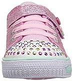 Skechers Girls' Shuffles-Dazzle Dots Sneaker,PINK,5