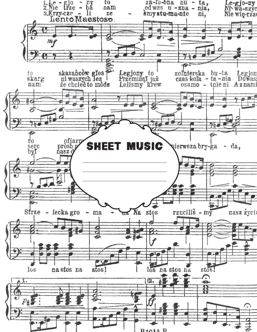 """Sheet Music Composition Book: 8.5"""" x 11"""", 200 pages of sheet music, matte pdf"""