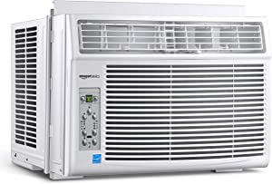 AmazonBasics Window-Mounted Air Conditioner with Remote - Cools 550 Square Feet, 12000 BTU