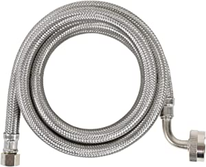 Certified Appliance Accessories Dishwasher Hose with 90 degree FGH Elbow, Water Supply Line, 6 Feet, PVC Core with Premium Braided Stainless Steel