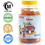 Salaam Nutritionals Children's Complete Gummy Vitamins: Healthy All Natural Nutrition, Dairy and Nut free, Rich in Vitamin C, Vitamin D3, Folic Acid, Vegetarian, Halal Vitamin Kosher, Immune Booster.