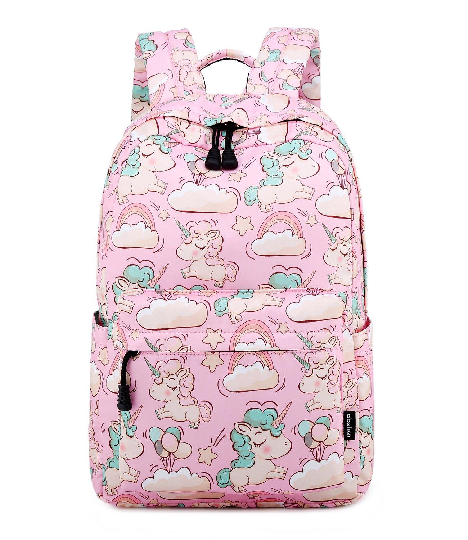 Abshoo Cute Lightweight Unicorn Backpack For Preschool Girls Kids Bookbag (Pink)