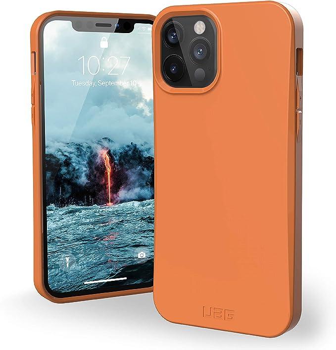 Urban Armor Gear Outback Bio Hülle Apple Iphone 12 Iphone 12 Pro 6 1 Schutzhülle Biologisch Abbaubare Materialien Wireless Charging Kompatibel Sturzfeste Handyhülle Ultra Slim Orange Elektronik