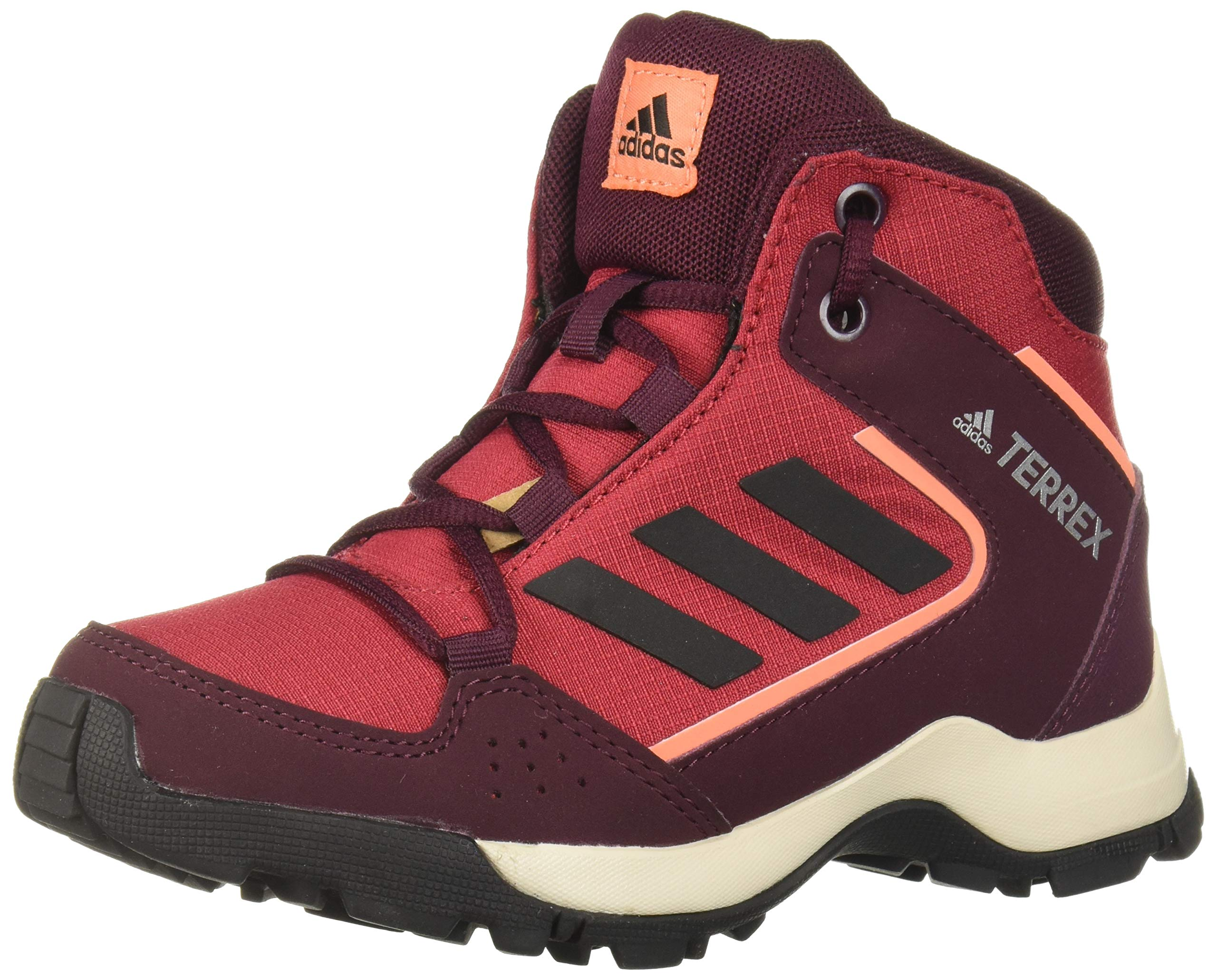 adidas outdoor Hyperhiker Hiking Boot Active Maroon/Black/Semi Coral 2.5 Child US Big Kid by adidas outdoor
