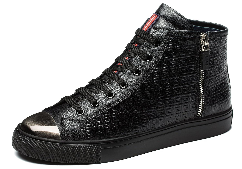 OPP Herren Leder Stiefeletten Boots Schuhe SchnürstiefelettenOPP Herren Stiefeletten Schnürstiefeletten Schwarz