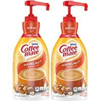 Nestle Coffee mate Coffee Creamer, Hazelnut, Liquid Pump Bottle, Non Dairy, No Refrigeration, 50.7 Fl Oz (Pack of 2)